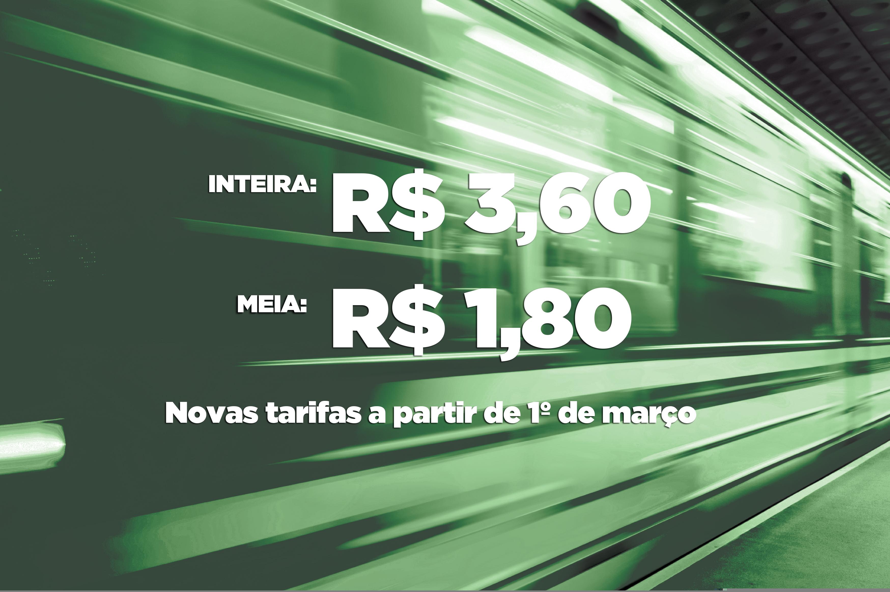 Linha Sul do Metrô de Fortaleza terá tarifa reajustada a partir de sexta-feira (1°/3)