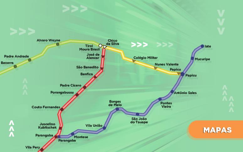 Confira os mapas das linhas em Fortaleza, Região Metropolitana e Interior