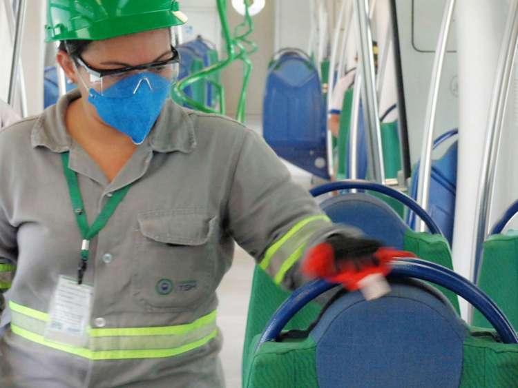 Metrô e VLTs no Ceará passam por 539 ações de desinfecções diariamente