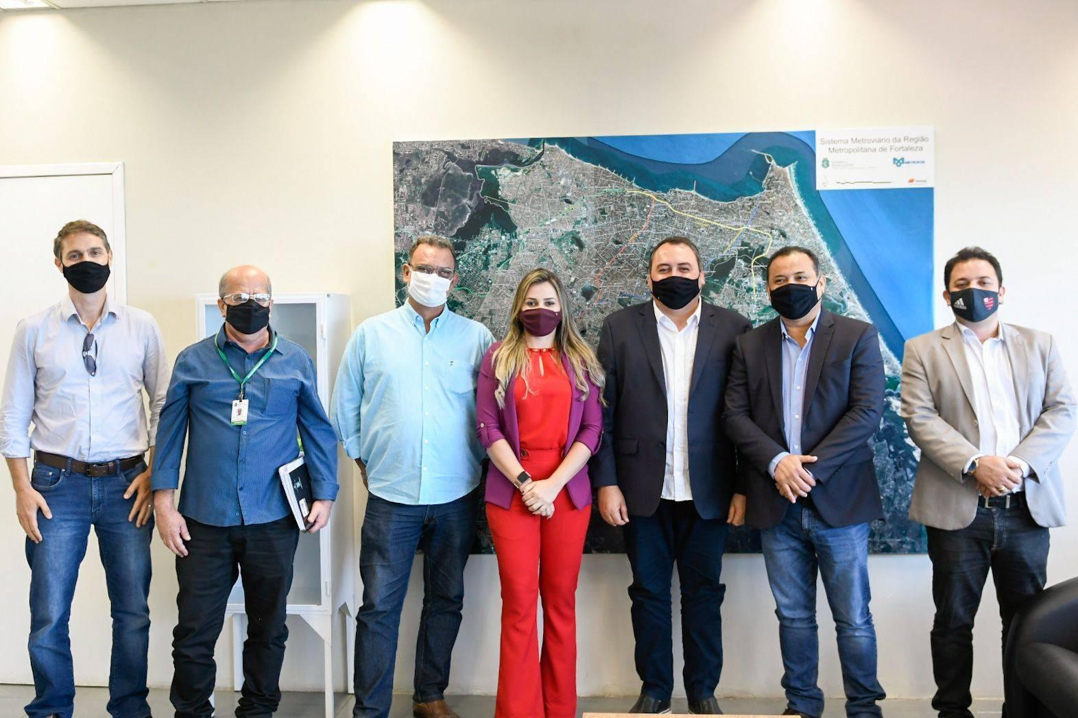 Metrofor recebe a visita de representantes do Metrô do Piauí